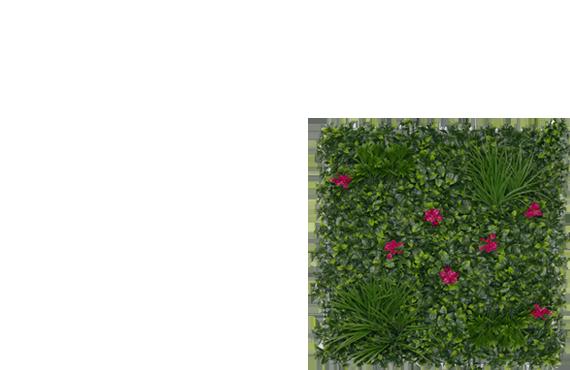 mur végétal artificiel bougainvilliers