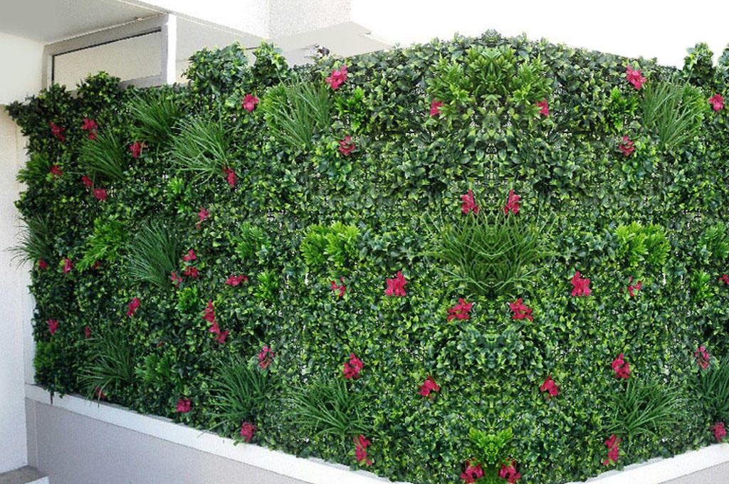 mur végétal artificiel ambiance jungle